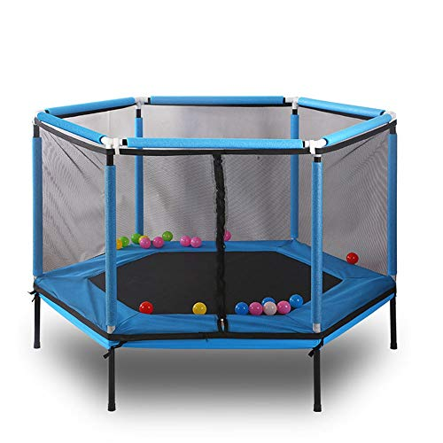 HWY-JJ Trampolines 54-Foot Jump Trampoline With Enclosure Net Four Folding Trampoline Trampoline Mini Trampoline Adult Trampoline Children's Home Indoor Jumping Bed Special Spring Jumping Bed Foldable