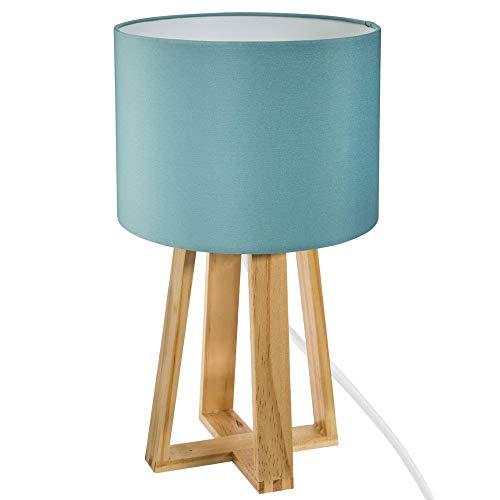 Lámpara de pie de madera azul Molu
