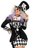 Leg Avenue Women's Costume, Black/White, Small/Medium
