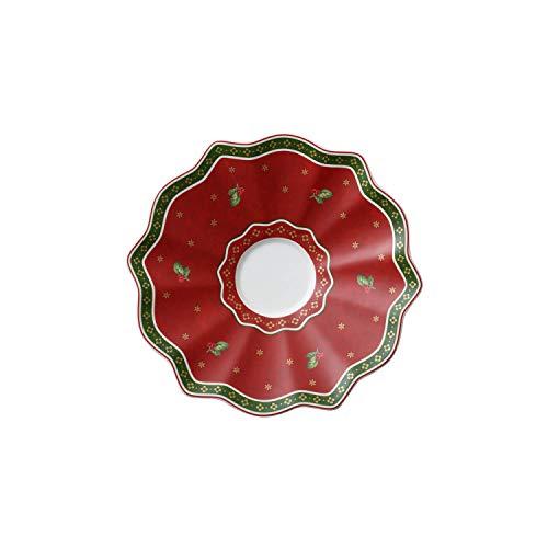 Villeroy & Boch Toy's Delight Sous-tasse rouge, 16,5 cm, Porcelaine Premium