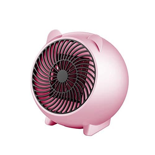 Mini Calentador de Espacio de 250W Portátil Winter Warmer Warment Calentador eléctrico Personal para el hogar Cerámica Cerámica Pequeños Calentadores US/UE Enchufe (Color : Rosado, Size : EU)