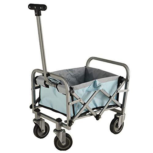 IMLEX Mini Spielzeug Bollerwagen hellblau faltbar für Kinder für Puppen oder andere Spielsachen
