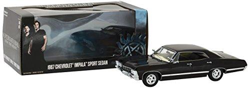"Greenlight 84032 Modellauto aus der TV-Serie ""Supernatural"" 1967er Chevrolet Impala Sport Sedan (Maßstab 1:24), Schwarz"
