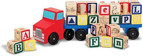 Melissa and doug - Camion de cube ABC en bois 30 pièces Jeu éducatif en bois Enfants 3 ans +