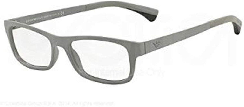 EMPORIO ARMANI Eyeglasses EA 3037 5262 Matte Light Grey 54MM