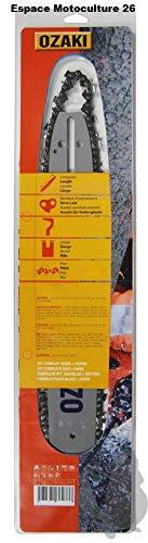 Guía de motosierra 40 cm y cadena 3/8Lp 56E de marca Ozaki.