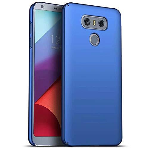 WYRMS Compatible con LG G6 Funda PC de Silicona,Ultra Delgado Parachoques Carcasa de Telefono a Prueba de Golpes Resistente a Los Arañazos Caso-Azul