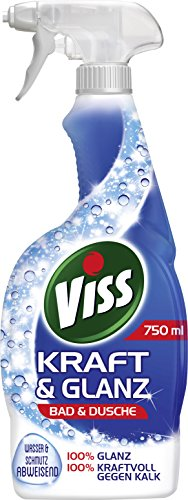 Viss Kraft & Glanz Reiniger Spray Bad & Dusche, 6er Pack (6 X 750 Ml)