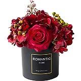 FOTGL Falsificación Flor Artificial de Seda roja Rose Real-Look Romántico Rosas en el florero de la Boda del Partido Principal de la Pieza Central de la decoración