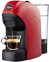 Lavazza - Máquina de café Lavazza a Modo Mio - Modelo Tiny - 1450 W de potencia - Capacidad 0,75 litros rojo