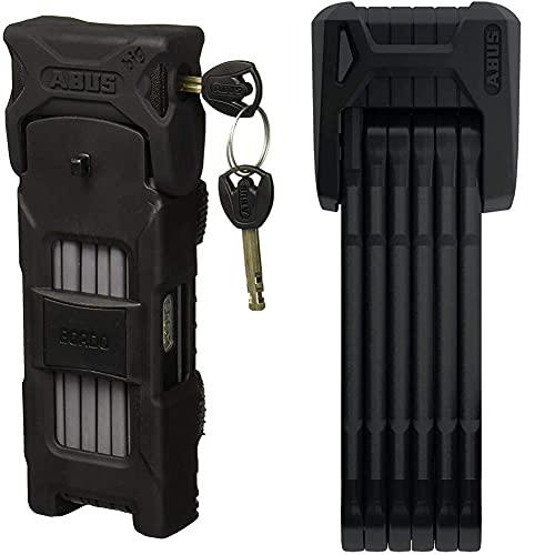 ABUS 6000/120 Bordo Big Folding Lock, Black, 120 cm & Bordo Granit X-Plus Folding Lock - Black, 85 cm