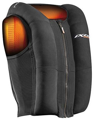 Ixon, Chaleco Airbag para moto, color negro y naranja, talla XS