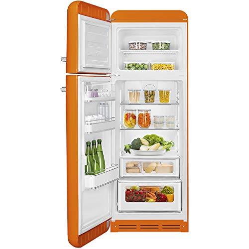 Smeg FAB30ROR3 réfrigérateur-congélateur Autonome Orange 294 L A+++ - Réfrigérateurs-congélateurs (294 L, SN-T, 4 kg/24h, A+++, Nouvelle zone compartiment, Orange)