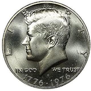 1976 S 1976-S Silver Bicentennial Kennedy Half Dollar Mint State Half Dollar Brilliant Uncirculated