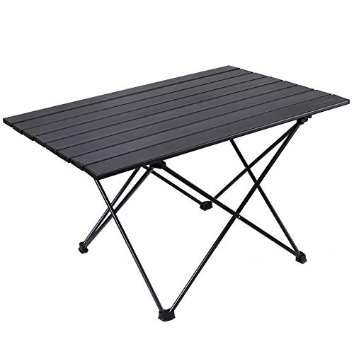 RISEPRO Mesa de Camping Plegable portátil, Bolsa de Transporte de Aluminio para...