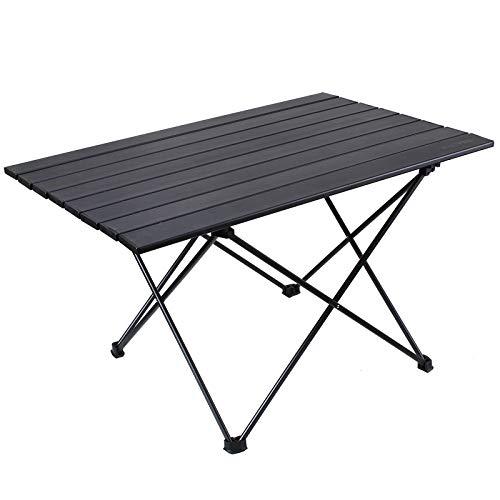 RISEPRO Mesa de Camping Plegable portátil, Bolsa de Transporte de Aluminio para Exteriores, Camping, Picnic, Cocina, Playa, Senderismo, Pesca 68 x 46 x 40 cm