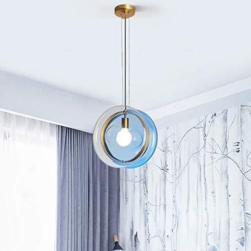 The only Good quality interieur Nordic Minimalista kroonluchter van gekleurd glas bedlampje voor slaapkamer Creative restaurant café portico bar corridoio kroonluchter plafondlamp 36 x 36 cm