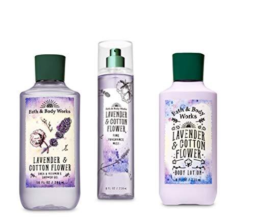 Lavender & Cotton Flower - Shower Gel, Fine Fragrance Mist & Super Smooth Body Lotion - Daily Trio - 2019