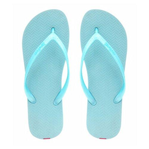 Casual Tongs Unisexe Plage Chaussons Anti-Slip Maison Slipper Bleu clair