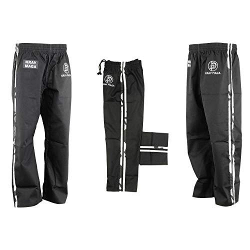 Krav Maga Combat Noir Camouflage Rayure Entraînement Pantalon (Pantalon) - 9oz - Neuf - Noir, 5/180cm