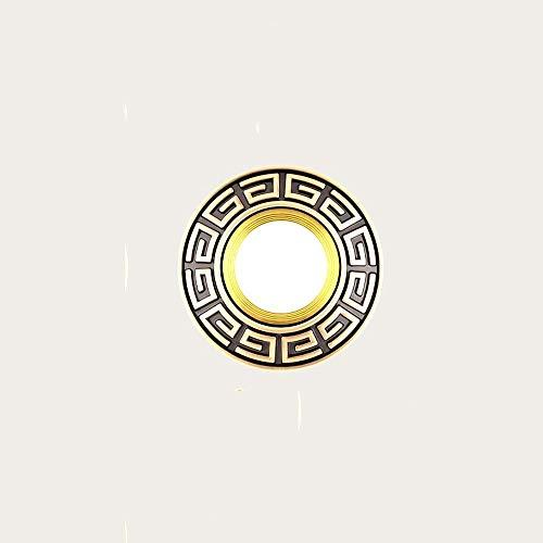 Lyuez Led-plafondlamp, koper, plafondlamp, voor woonkamer, eetkamer, decoratief, voor slaapkamer, gat, koper, licht