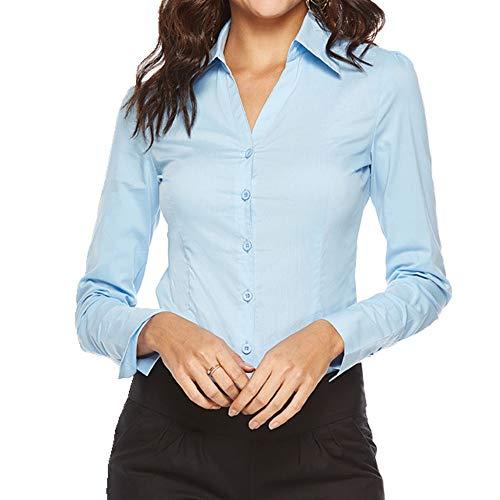 N\P Herbst Einteiler Shirt ol Commuter V-Ausschnitt Damen Langarm Professional Slim...