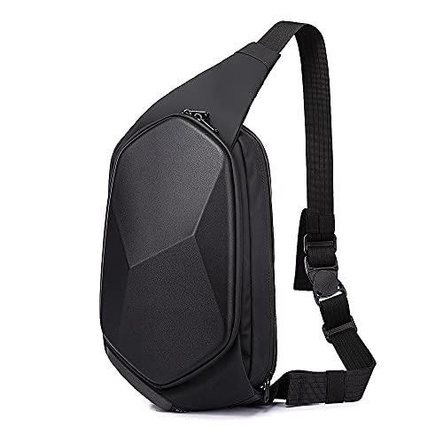 BANGE Sling Bag for Men,Waterproof Safe Protect Shell Crossbody Bag Backpack, Daily Casual Travel Shoulder Bag,Biking Hiking Chest Bag for Women