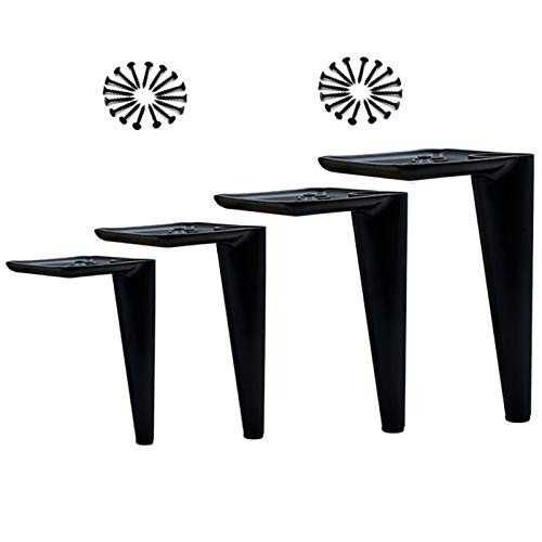 6 inch/15 cm Nordic Meubelpoten, zwart Set van 4 metalen steunpoten, voor tafelconsolekast TV-kast Schoenenkast