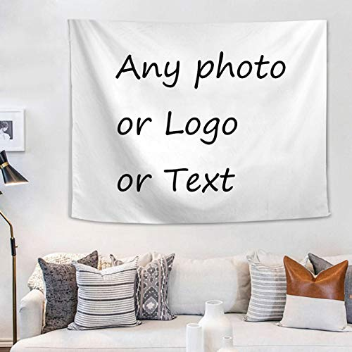 LEECUM Custom Photo Tapestry Print Any of Your Design Wall Hanging as Wall Art Fabric Beach Coverlet Curtain Personalized Decor (26.7x38.5in)
