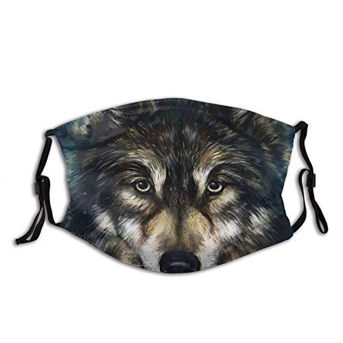 Clásico Lobo Cabeza Transpirable Cara Cuello Polaina Cara Bufanda Mask-Dust, Impermeable Transpirable Pesca Senderismo Correr Ciclismo