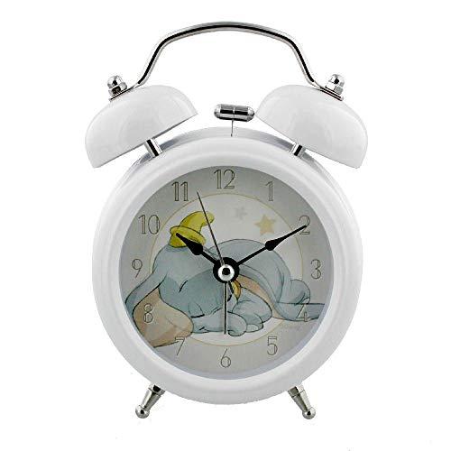 Disney Magical Beginnings - Reloj despertador de cuarzo, color blanco, diseño de Dumbo