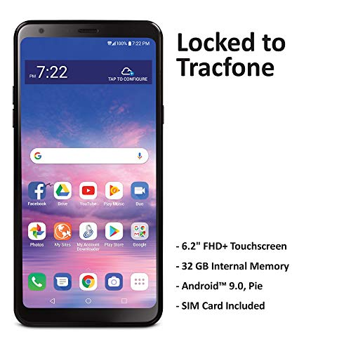 Tracfone LG Stylo 5 4G LTE Prepaid Smartphone (Locked) - Black - 32GB - Sim Card Included - CDMA