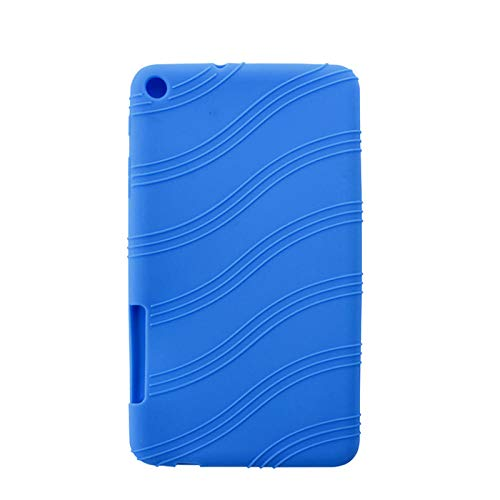 Para Huawei T1 701U 7 pulgadas silicona Tablets caso Anti-caída suave funda lavable a prueba de golpes anti-caída cubierta silicona Shell-Bleu