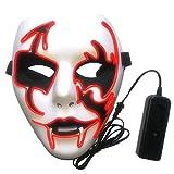 Gulin LED-Lichtmaske Lebensecht Blinkende Gesichtsmaske with Geistermaske Plastik Cosplay Party