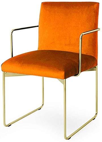 GAOLILI Bürostuhl mit Armlehne Dining Chair Moderne samtgepolstertes Dining Chair mit polierten Gold Metal Beine for Küche Küchenstühle