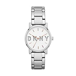 Simply stated, DKNY is the energy and spirit of New York: international, modern, fresh, and real. Both fashionable and friendly, DKNY consistently delivers its unique mix of style around the world Bold and modern, the DKNY SoHo watch in stainless-ste...