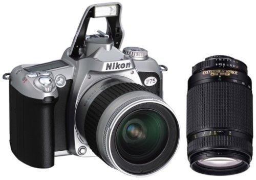 Nikon F75 Spiegelreflexkamera Silber mit 28-80mm + 70-300mm Original-Zoomobjektiven