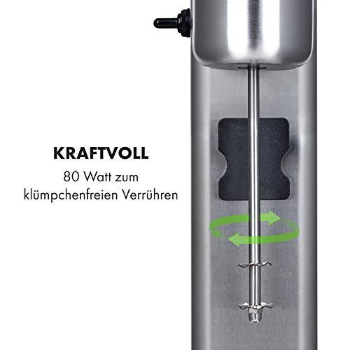 Klarstein Kraftpaket Pro Drink Mixer, 80 Watt, 1 Liter, 2 Stufen, 20000 U/min, Mixbecher aus Edelstahl, Milk- & Proteinshake, Getränkemixer, Cocktail, Bar Mixer, Gastro, Profi, silber