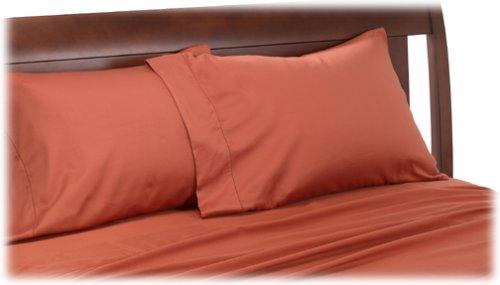 Grand Patrician Seduction 300-Thread-Count Sateen Standard Pillowcases, Terra Cotta