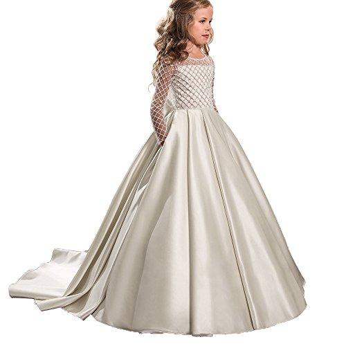 Princess Flower Girl Dresses Lace L…