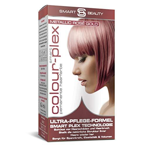 Metallic Rose Gold demi-permanentes Haarfärbemittel  Professionelle Haarfarbe in Salonqualität   100% vegane Formulierung ohne Tierversuche   Mit Smart Plex Technologie gegen Haarbruch   Smart Beauty