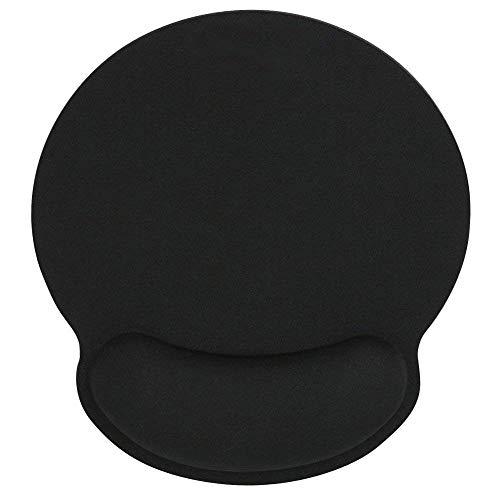 Voyago Memory Foam Mouse polssteun pad, pijnverlichting, voor laptop, desktop, kwaliteit zwart, ondersteuning van toetsenbord en pols en comfortabel & duurzaam & pijnverlichting