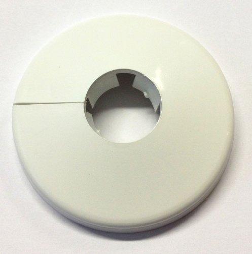 Rosette 22mm (1/2 Zoll) einteilig weiss Schwalbenschwanzverschluss