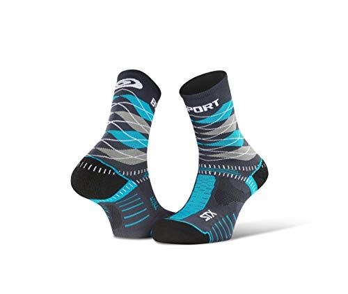 BV Sport STX Evo Collector - Calzini Trail, grigio / blu, 36-38
