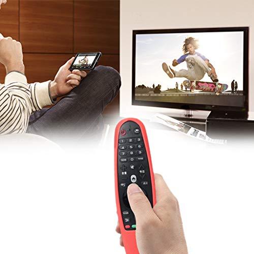 Cuigu Funda de Silicona para Mando a Distancia para LG AN-MR600Smart TV Remote Controller, Silicona, Rojo, Talla estándar