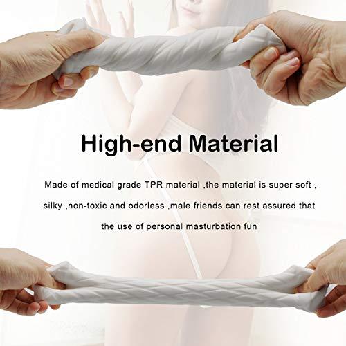 Male Masturbators Adult Sex Toys 3D Realistic Pocket Vagina Pussy Masturbator Cup Sleeve Stroker for Men Discreet Package(Yellow)