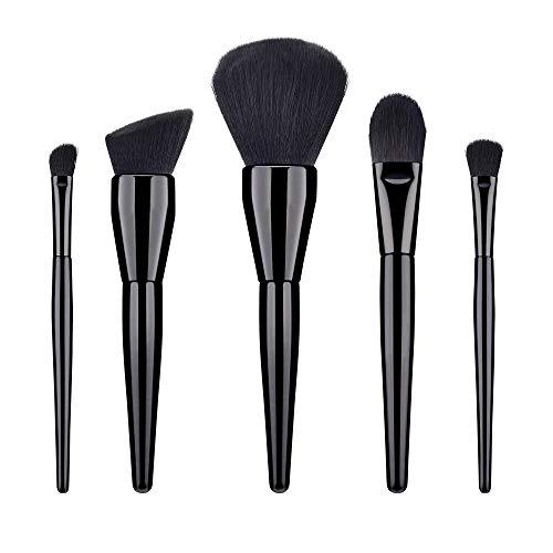 5 PCS Blending noire poignée en bois Fondation cosmétique Sourcils Pinceau fard à paupières pinceau de maquillage Ensembles Outils Matériel fiable (Handle Color : As shown)