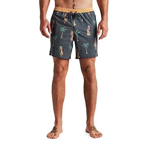 Roark Revival Shorey Panji Hula Swim Shorts Large Black