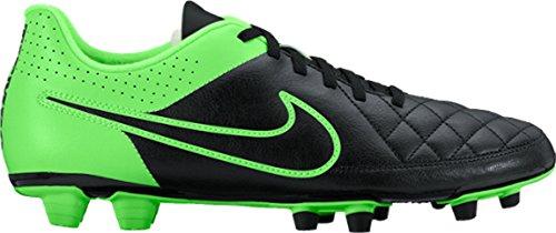 Nike–Tiempo Rio II FG–Black/Black de Grn Strk de Grn Strk