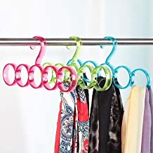 Garden Of Arts Single Line Acrylic Hanger Plastic Ring Hanger for Scarf, Shawl, Tie, Belt, Closet Accessory Wardrobe Organizer (Multicolor)
